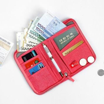 VONG2W High Quality Multifunctional Travel Accessories Passport Bags Travel Document Organizer Large Capacity Oxford Passport Wallets