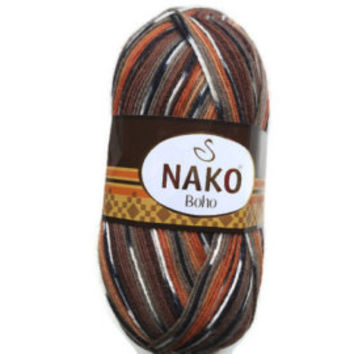 "Destash yarn, sale yarn, Wool Yarn, Destash wool yarn, Variegated Sock Yarn, Sock yarn, Superwash Sock Yarn ""Nako"""