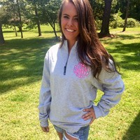 Charles River Quarter Zip with Lilly Pulitzer Monogram - Throw A Tantrum