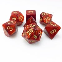 Scarab Dice (Scarlet Red) RPG Role Playing Game Dice Set