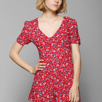 Glamorous Ruched-Sleeve Romper - Urban Outfitters