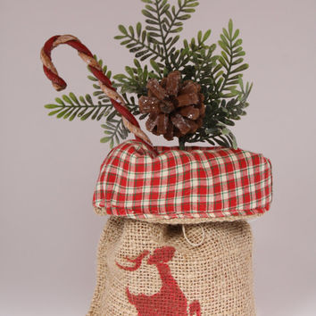 Burlap Bags - Fabric Lined - Sacks - Gift Bag - Christmas- Hostess - Eco Friendly - Reusable Bags - Party Favor  - Set of 6