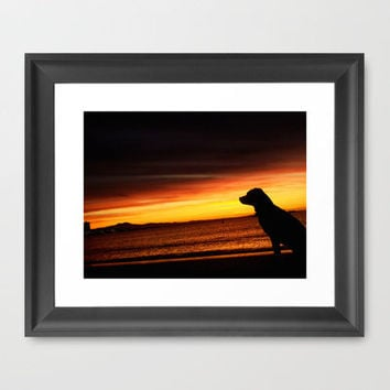 Best Friend Good Mornings Framed Art Print by RichCaspian