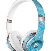 Mixed Blue Oil Full-Body Skin Kit for the Beats by Dre Solo 3 Wireless Headphones