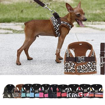 Winter wear padded Vest Harness for Dogs Puppy Cats Pets, Small Medium Large Dog Harness, Pet Dog clothes,Dog Collar Leash