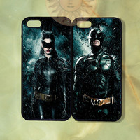 Catwoman and Batman Couple Case-iPhone 5, iphone 4s, iphone 4 case, ipod 5, Samsung GS3-Silicone Rubber or Hard Plastic Case, Phone cover