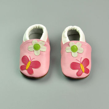 Leather Baby Infant Butterfly Shoes [4919349316]