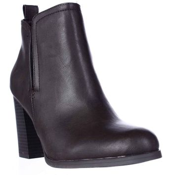 AR35 Seleste Block Heel Chelsea Booties, Chocolate, 5.5 US