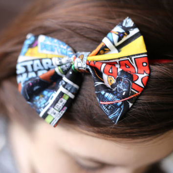 Star Wars Hair Bow. Star Wars Bow.  Storm Trooper Bow. Star Wars. Handmade Star Wars.