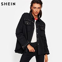 Denim Jacket Autumn Women Coats Black Lapel Single Breasted
