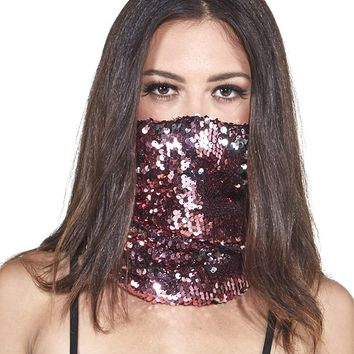 iHeartRaves Sequins Seamless Face Mask Bandanas - Choose from many designs