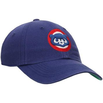 22ade789e0b Chicago Cubs Royal Circle Logo Franchise Cooperstown Adjustable Hat 47 BRAND