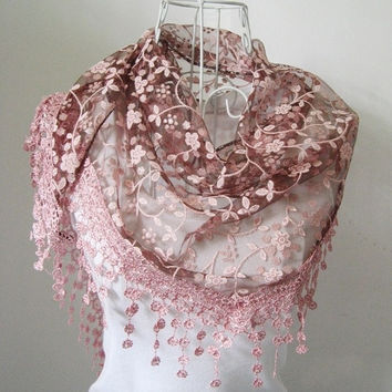 Lace Hollow Hook Floral Women Long Scarf Wrap Ladies Shawl Girls Large Silk Scarves = 1957871556