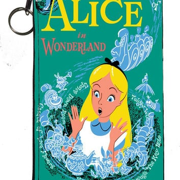 Disney's Alice in Wonderland Zipper Pouch 8inch x 4inch
