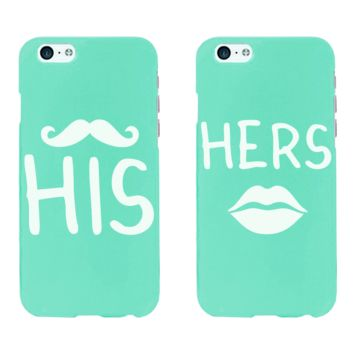 His and Hers Matching Couple Mint Phonecases (Set)