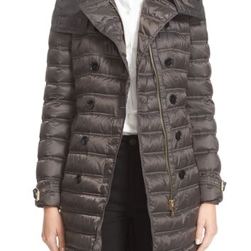 Burberry Chesterford Belted Double Breasted Down Coat | Nordstrom