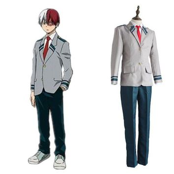 DCCKH6B Anime My Boku No Hero Academia Todoroki Shouto Costume Cosplay Uniforms School Suit