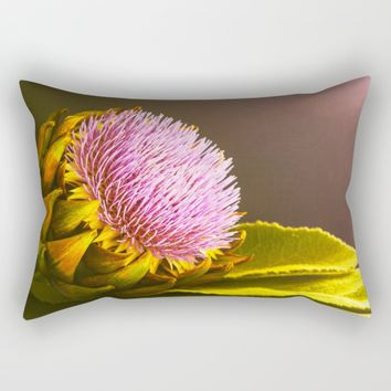 artichokes flower Rectangular Pillow by Tanja Riedel