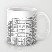 Clarence Dock Leeds Drawing Mug by Karl Wilson Photography