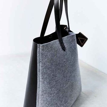 Kelsi Dagger Brooklyn Woven Commuter Tote Bag- Grey One