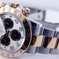 Rolex Cosmograph Daytona Yellow Gold & Steel White Panda 116523 - WATCH CHEST