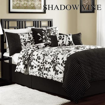 11pc S.V. Black/White Luxury Size: Queen Sheet Set Color: Ivory