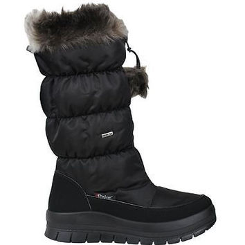 Pajar Womens Winter Boots Toboggan-2 Black Waterproof Dinamic/Nylon