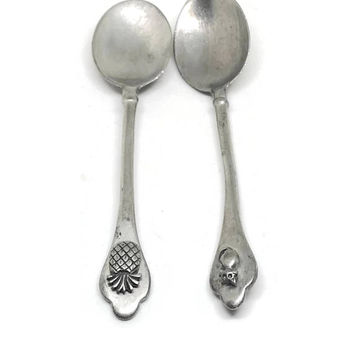 DIO Hoffmando Pewter Spoons / Round Bowl Soup Spoon / Pewter Teaspoon / Souvenir Spoon / Decorative Pewter Spoons