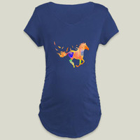 horse Maternity T-Shirt by haroulita on BoomBoomPrints