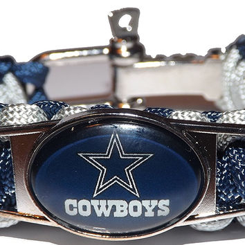 NFL Bracelets - Dallas Cowboys NFL Fan Team Adjustable Paracord Bracelet