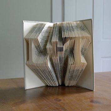 "Unique Wedding Decoration - Paper Art - Two initials with ""plus"" in between - I Love You - Wedding Present - Paper Anniversary"