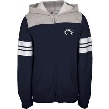 Penn State - Game Day Sports Stripes Girls Juvy Zip Hoodie