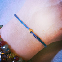 Tiny star bracelet, something blue, string of fate bracelet, love bracelet, friendship bracelet, simple bracelet, delicate bracelet