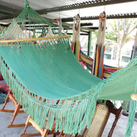 Green Hammock With Wood Free Shipping Worldwide by slingshotsws