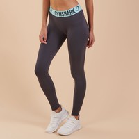 Gymshark Fit Legging - Charcoal/Pale Turquoise