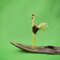 Rooster, A Perky little  Rooster,  Hand Carved