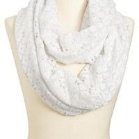 Old Navy Womens Crochet Overlay Jersey Infinity Scarves Size One Size - White combo