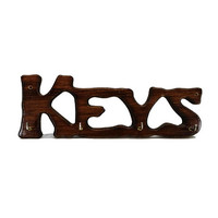Vintage Wooden Key Holder Wall Rack Hooks Hanger Front Door Entryway Hanging Organizer Home Decor