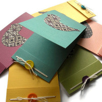Birdie Matchbook Cards Set of 12 Custom Made by BeMyBee on Etsy