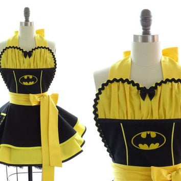 "Pin-Up Apron ""Batgirl"" -- Sexy in Gotham Chic"