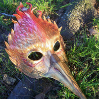 Mockingjay Hunger Games Leather Firebird Phoenix Mardi Gras Masquerade Carnivale Mask