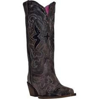 Laredo Black with Snake Print Boots