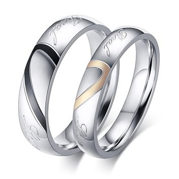 Heart Couples Rings