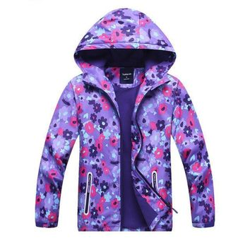 Purple, Pink, Blue Floral Kid Child Baby Toddler New Born Infant Winter Snow Coat