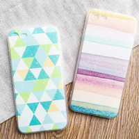 Ocean Landscape Scenery Case For iphone 7 Case For iphone7 6 6S PLus Phone Cases Fashion Colorful Geometry Gradient Back Cover