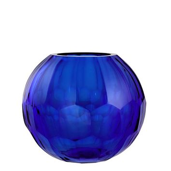 Blue Glass Vase - S | Eichholtz Feeza