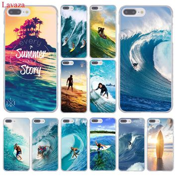 Lavaza Sea wave surf summer surfing ocean Hard Phone Case for Apple iPhone 8 7 6 6S Plus X 10 5 5S SE 5C 4 4S