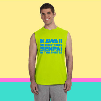 Kawaii on the Streets Senpai in the Sheets Sleeveless T-shirt