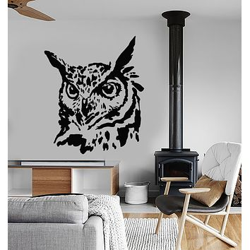 Vinyl Wall Decal Abstract Bird Head Owl Blot Stickers (3267ig)