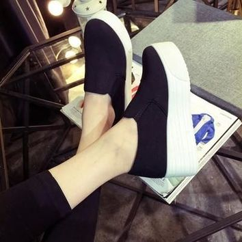 platform shoes flats loafers muffin thick soled sneakers canvas espadrilles creepers
